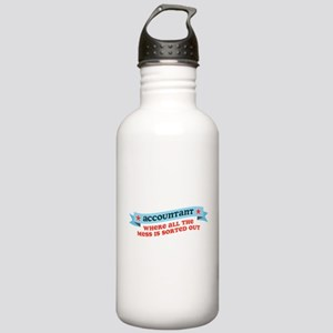 Accountant Mess Sorted Stainless Water Bottle 1.0L