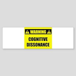 WARNING: Cognitive Dissonance Sticker (Bumper)
