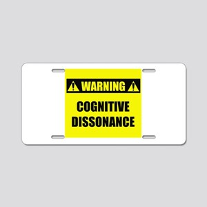 WARNING: Cognitive Dissonance Aluminum License Pla