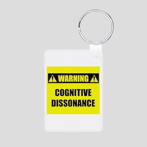 WARNING: Cognitive Dissonance Aluminum Photo Keych