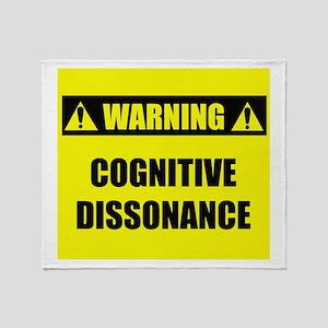WARNING: Cognitive Dissonance Throw Blanket
