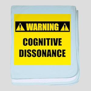 WARNING: Cognitive Dissonance baby blanket