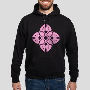 Pink Anthurium Leaf Design Sweatshirt