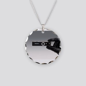 camera Necklace Circle Charm