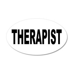 Therapist 22x14 Oval Wall Peel