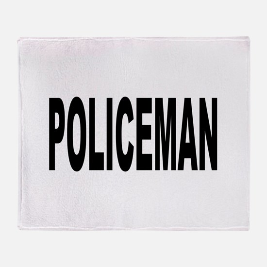 Policeman Throw Blanket