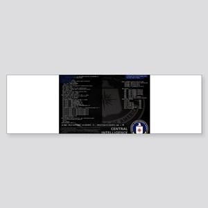 cia unix Sticker (Bumper)