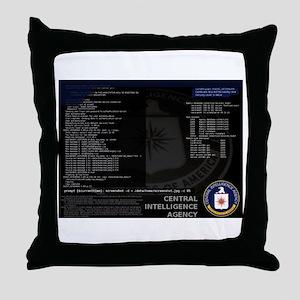 cia unix Throw Pillow