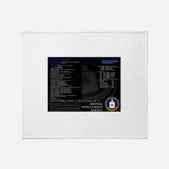 cia unix Throw Blanket
