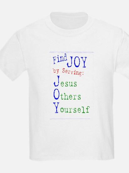 Find Joy in serving Jesus Oth Kids T-Shirt