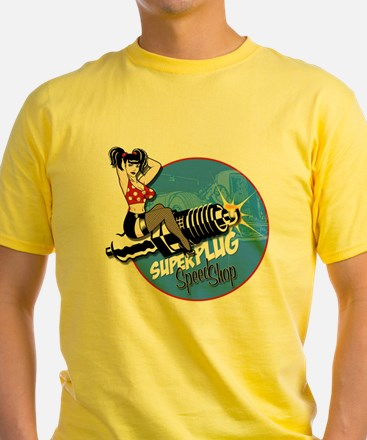 girl_superplug_over_wh T-Shirt