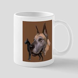 Great Dane Fawn collage Mug