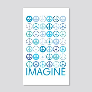 Imagine Peace Signs 22x14 Wall Peel