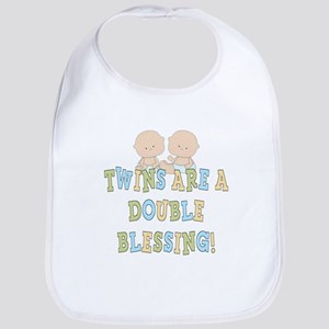 Double Blessing Twins Bib