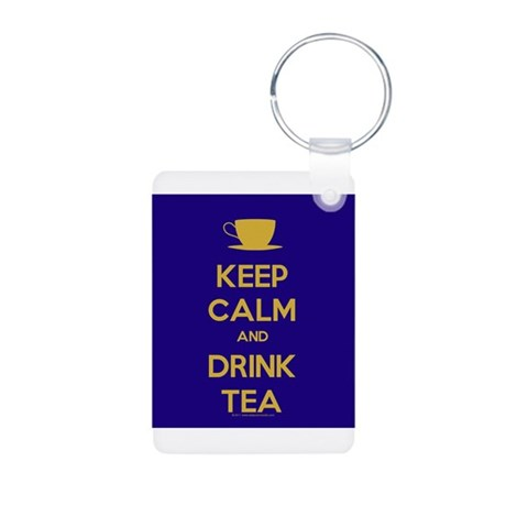 Keep Calm & Drink Tea (Dark Blue) Aluminum Photo K