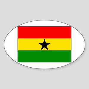 Flag of Ghana Oval Sticker
