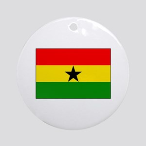 Flag of Ghana Ornament (Round)
