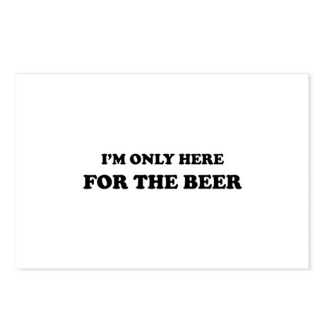 Here for the Beer Postcards (Package of 8)