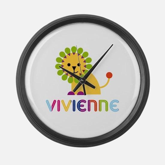 Vivienne the Lion Large Wall Clock