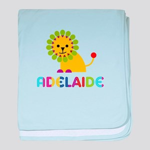 Adelaide the Lion baby blanket