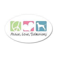 Peace, Love, Dalmatians 22x14 Oval Wall Peel