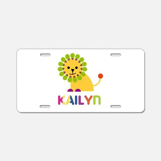 Kailyn the Lion Aluminum License Plate