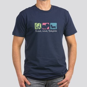 Peace, Love, Dandies Men's Fitted T-Shirt (dark)