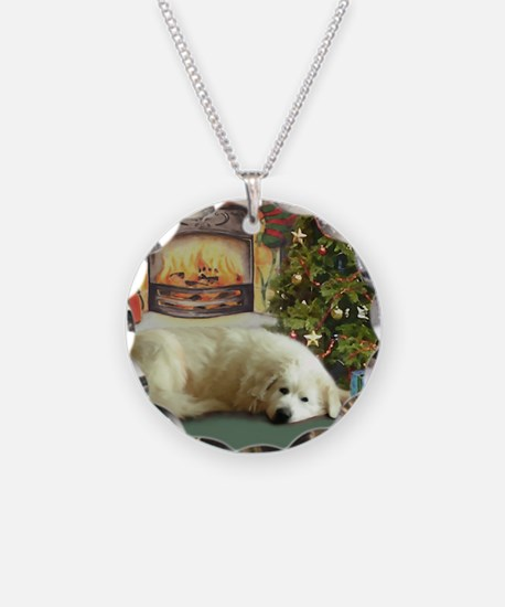Great Pyrenees Christmas Necklace
