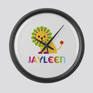 Jayleen the Lion Large Wall Clock