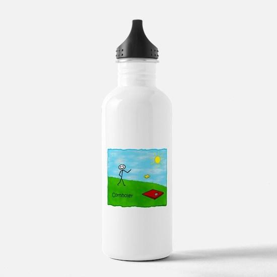 Stick Person (Cornholer) Water Bottle