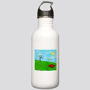Stick Person (Image Only) Stainless Water Bottle 1