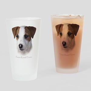 Jack Russell Headshot Drinking Glass