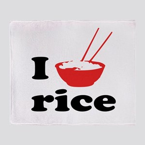 I love rice Throw Blanket