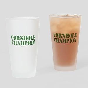 Cornhole Champion Drinking Glass