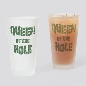 Queen Of The Hole Drinking Glass