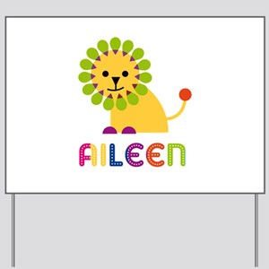 Aileen the Lion Yard Sign