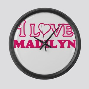 I Love Madilyn Large Wall Clock