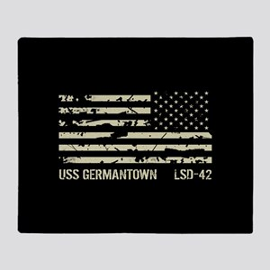USS Germantown Throw Blanket