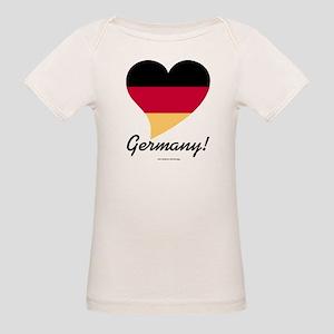 Heart Germany (International) Organic Baby T-Shirt