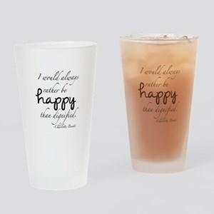 Rather Be Happy Drinking Glass