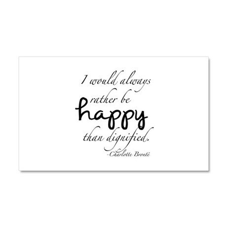 Rather Be Happy Car Magnet 20 x 12