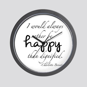 Rather Be Happy Wall Clock