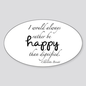 Rather Be Happy Sticker (Oval)
