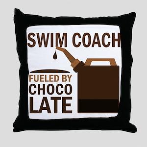 Swim Coach (Funny) Gift Throw Pillow