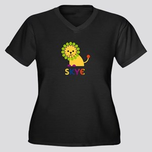 Skye the Lion Women's Plus Size V-Neck Dark T-Shir