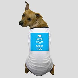Keep Calm & Drink Tea (Light Blue) Dog T-Shirt