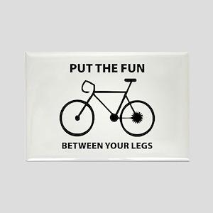 Fun between your legs. Rectangle Magnet