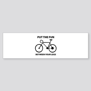Fun between your legs. Sticker (Bumper)