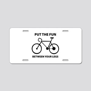 Fun between your legs. Aluminum License Plate