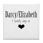 Darcy/Elizabeth Tile Coaster